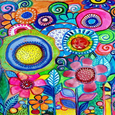 DiaNoche Designs Artist | Robin Mead - Garden of Colors