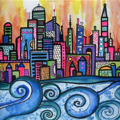 DiaNoche Designs Artist   Robin Mead - Summer Skyline