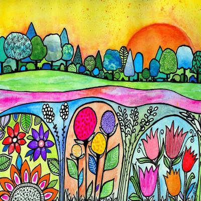 DiaNoche Designs Artist   Robin Mead - Town Gardens
