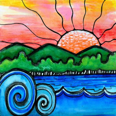DiaNoche Designs Artist   Robin Mead - Tropical Morning