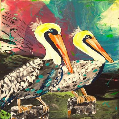 DiaNoche Designs Artist | Shay Livenspargar - Dos Pelicans
