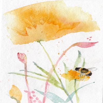 DiaNoche Designs Artist   Sheila Golden - Bee and Flower