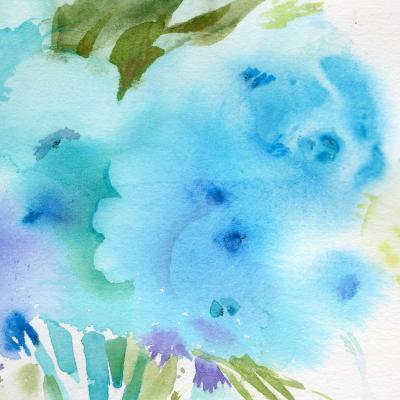 DiaNoche Designs Artist   Sheila Golden - Blue Flowers