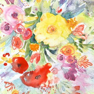 DiaNoche Designs Artist   Sheila Golden - Blue Flowers Bouquet