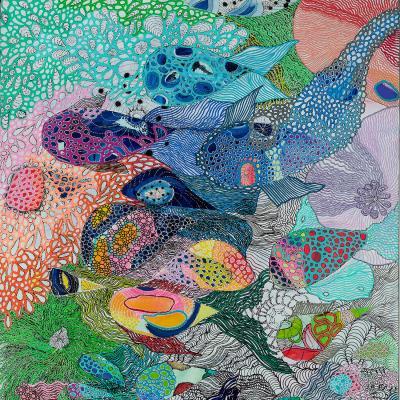 DiaNoche Designs Artist | Sonia Begley - Coral Reef 1