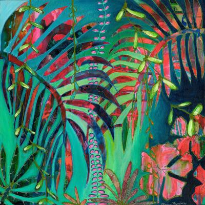 DiaNoche Designs Artist | Sonia Begley - Tropical Palms Turquoise Green