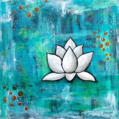 DiaNoche Designs Artist | Sue Allemand - Lotus in Blue