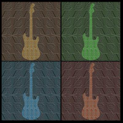 DiaNoche Designs Artist | Susie Kunzelman - 4 Guitars