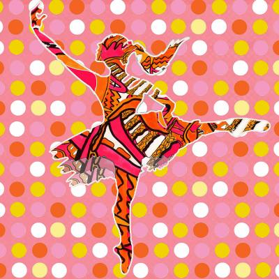 DiaNoche Designs Artist | Susie Kunzelman - Ballerina Polka Dot