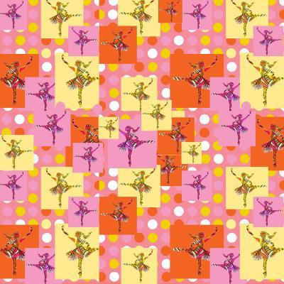DiaNoche Designs Artist | Susie Kunzelman - Ballerina Polka Dot Pattern