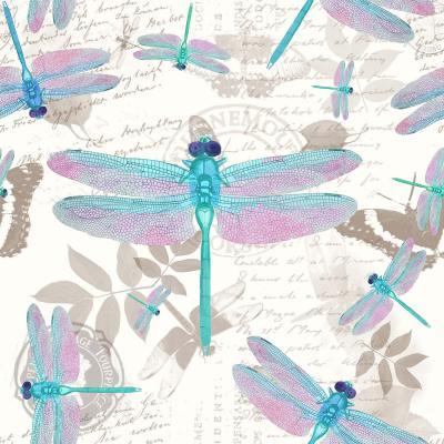 DiaNoche Designs Artist | Tina Lavoie - Dragonfly Pattern Aqua