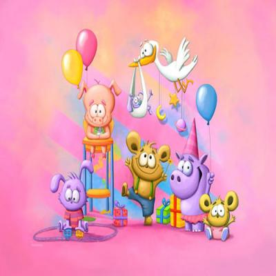 DiaNoche Designs Artist | Tooshtoosh - Baby Animal Party Pink