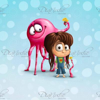 DiaNoche Designs Artist | Tooshtoosh - Blobo Likes Jacky
