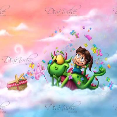 DiaNoche Designs Artist | Tooshtoosh - Butterflies Picnic in the Sky