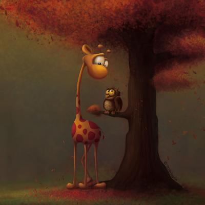 DiaNoche Designs Artist | Tooshtoosh - Autumn Giraffe