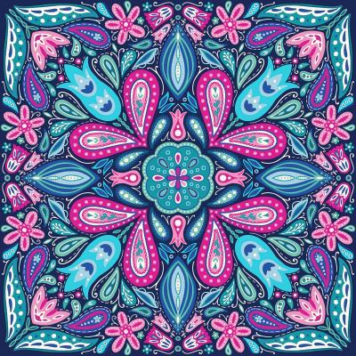 DiaNoche Designs Artist | Noonday Design - Bright Blue Pink