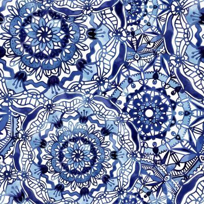 DiaNoche Designs Artist | Noonday Design - Delft Blue Mandalas