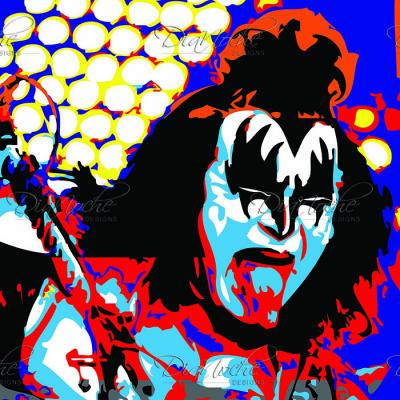 DiaNoche Designs Artist | Ty Jeter - Gene Simmons