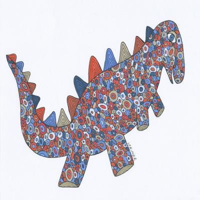 DiaNoche Designs Artist | Valerie Lorimer - Dinosaur on the Roam