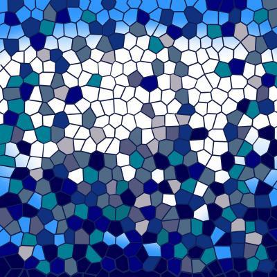 DiaNoche Designs Artist   Yasmin Dadabhoy - Blue Mosaic 1