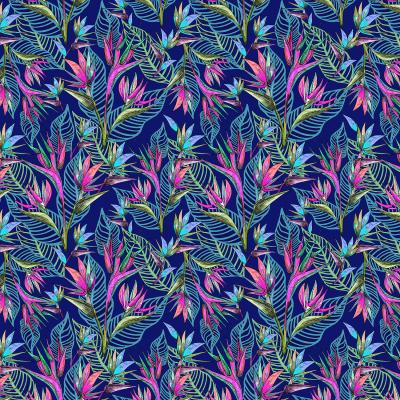 DiaNoche Designs Artist   Yasmin Dadabhoy - Blue Tropical 2
