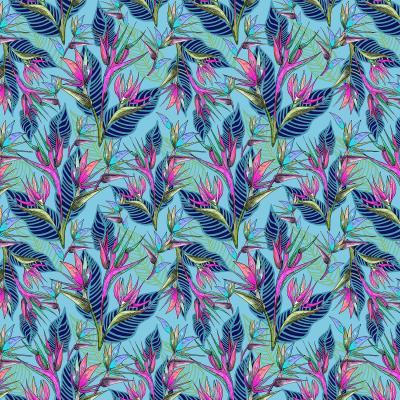 DiaNoche Designs Artist | Yasmin Dadabhoy - Blue Tropical