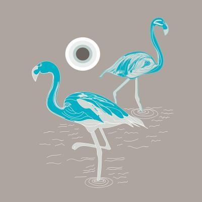 DiaNoche Designs Artist | Yasmin Dadabhoy - Flamingo 1 Turquoise