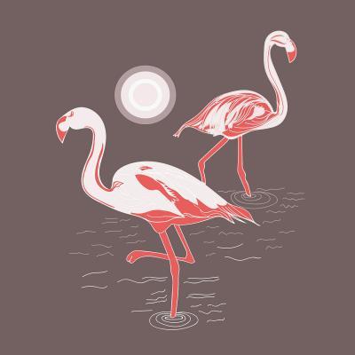 DiaNoche Designs Artist   Yasmin Dadabhoy - Flamingo 1 Brown