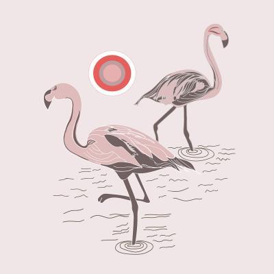 DiaNoche Designs Artist | Yasmin Dadabhoy - Flamingo 1 Pale Pink
