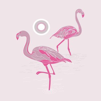 DiaNoche Designs Artist | Yasmin Dadabhoy - Flamingo 1 Pink