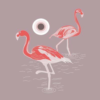 DiaNoche Designs Artist | Yasmin Dadabhoy - Flamingo 1 Red