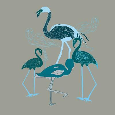 DiaNoche Designs Artist | Yasmin Dadabhoy - Flamingo 2 Green