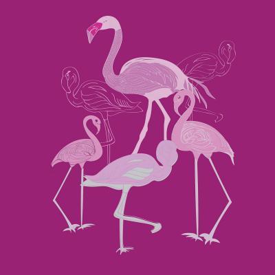 DiaNoche Designs Artist | Yasmin Dadabhoy - Flamingo 2 Magenta