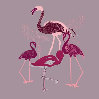 DiaNoche Designs Artist | Yasmin Dadabhoy - Flamingo 2 Maroon