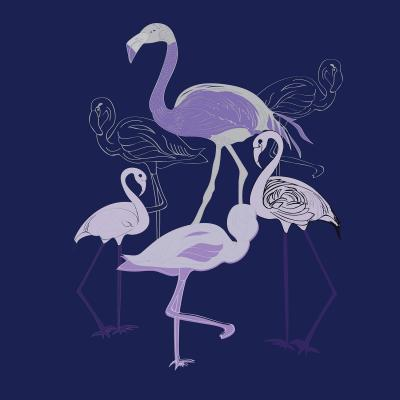 DiaNoche Designs Artist | Yasmin Dadabhoy - Flamingo 2 Violet