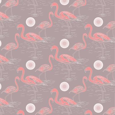 DiaNoche Designs Artist | Yasmin Dadabhoy - Flamingo 3 Brown