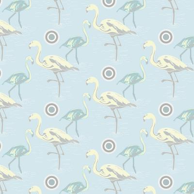 DiaNoche Designs Artist | Yasmin Dadabhoy - Flamingo 3 Pale Blue