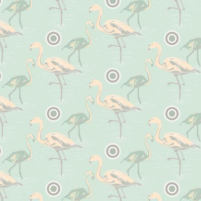 DiaNoche Designs Artist | Yasmin Dadabhoy - Flamingo 3 Pale Green