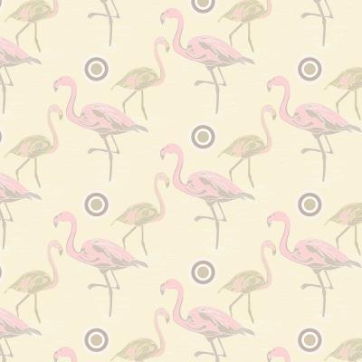 DiaNoche Designs Artist | Yasmin Dadabhoy - Flamingo 3 Pale Yellow