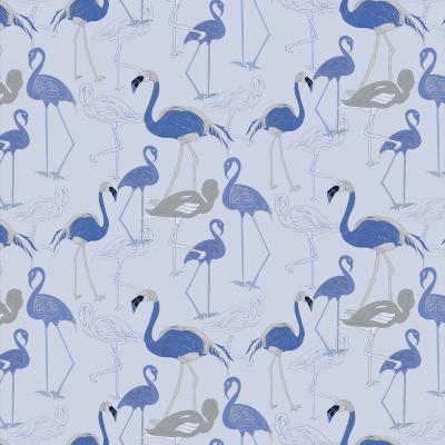 DiaNoche Designs Artist | Yasmin Dadabhoy - Flamingo 4 Blue