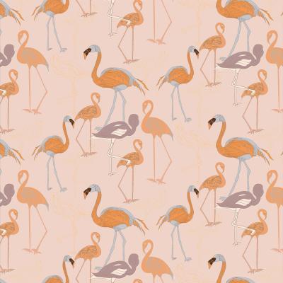 DiaNoche Designs Artist | Yasmin Dadabhoy - Flamingo 4 Orange