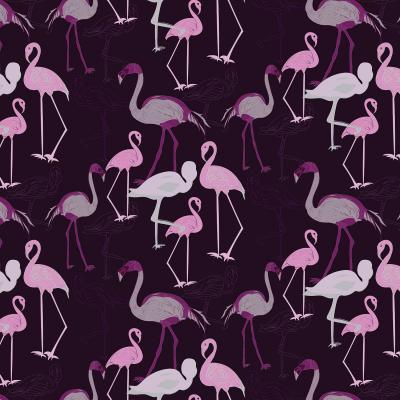 DiaNoche Designs Artist | Yasmin Dadabhoy - Flamingo 4 Plum
