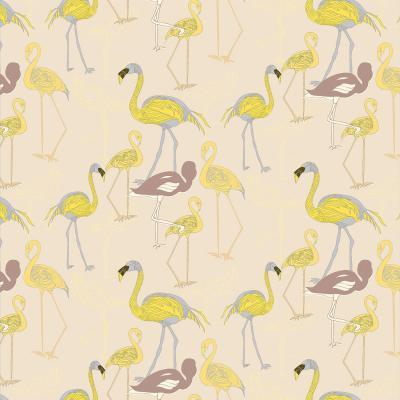 DiaNoche Designs Artist | Yasmin Dadabhoy - Flamingo 4 Yellow