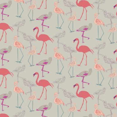 DiaNoche Designs Artist | Yasmin Dadabhoy - Flamingo 5 Peach Pink
