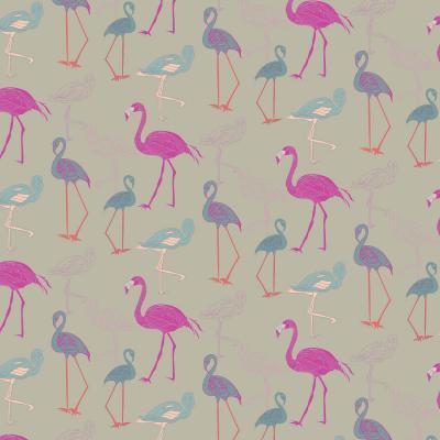DiaNoche Designs Artist | Yasmin Dadabhoy - Flamingo 5 Pink Purple