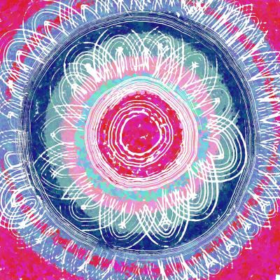 DiaNoche Designs Artist | Yasmin Dadabhoy - Flower Mandala Pinks