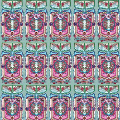 DiaNoche Designs Artist | Yasmin Dadabhoy - Pink Boho