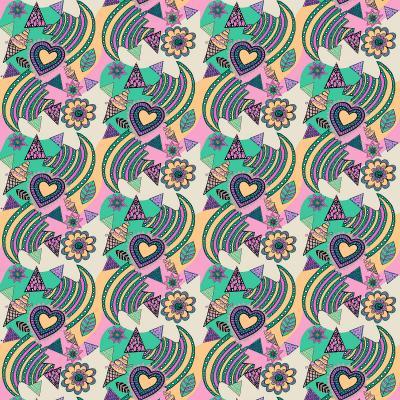 DiaNoche Designs Artist | Yasmin Dadabhoy - Popart Beige