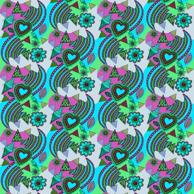 DiaNoche Designs Artist | Yasmin Dadabhoy - Popart Turquoise
