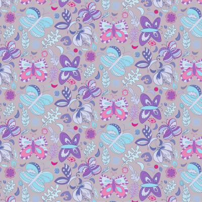 DiaNoche Designs Artist | Yasmin Dadabhoy - Butterflies Blue Purple